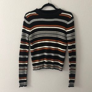 Ribbed Striped Sweater
